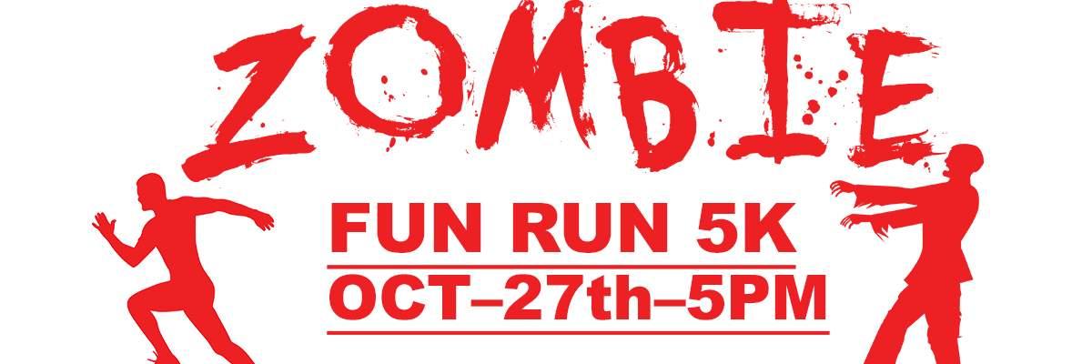 Zombie 5K Fun Run Banner Image