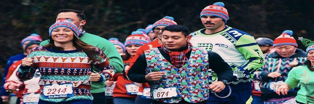 Ugly Sweater Run Walk 5k Banner Image