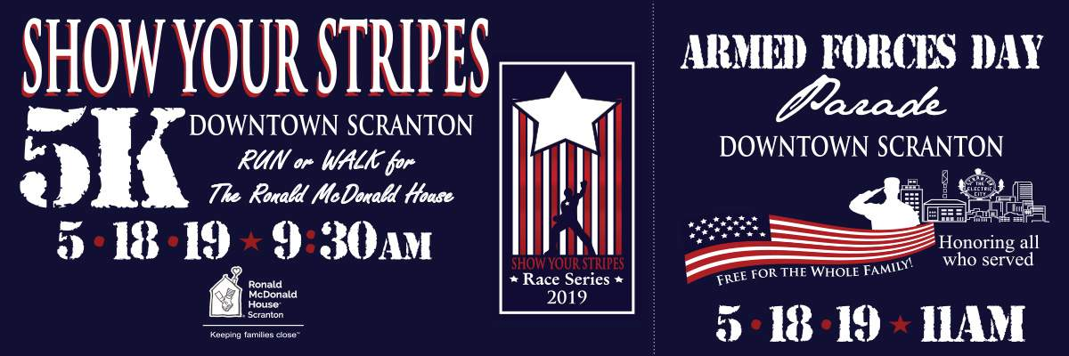 Ronald McDonald House Show Your Stripes Race Series @ Armed Forces Day Parade Banner Image