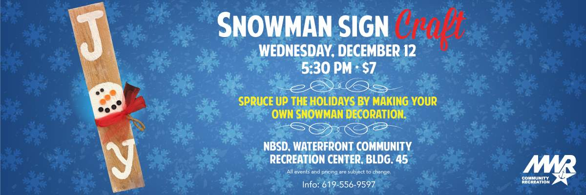 Snowman Sign Craft Banner Image