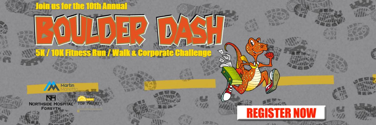 Boulder Dash 5K/10K Fitness Run/Walk & Corporate Challenge Banner Image