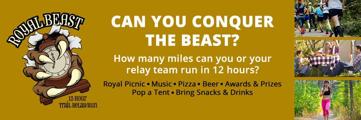 Royal Beast 12 Hour Trail Relay/Run Banner Image