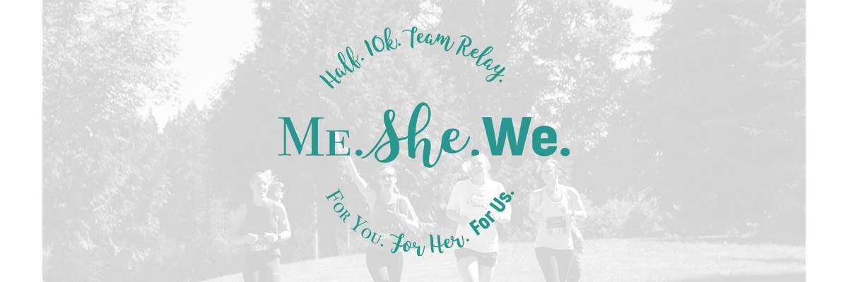 Me.She.We. Women's Half Marathon Banner Image