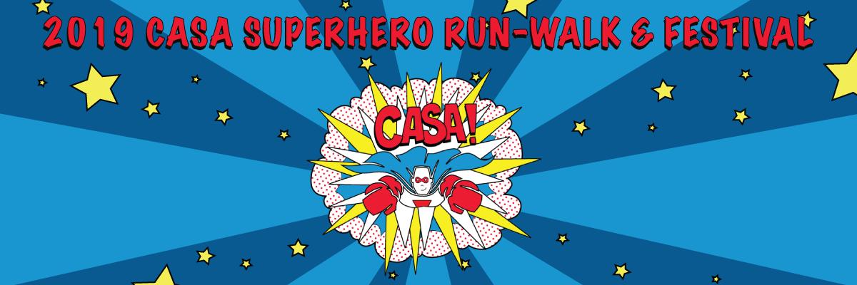 CASA of Kern County Superhero Run Banner Image