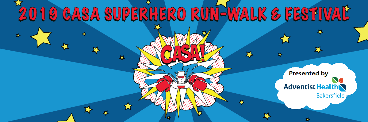CASA of Kern County Superhero Run Banner Image