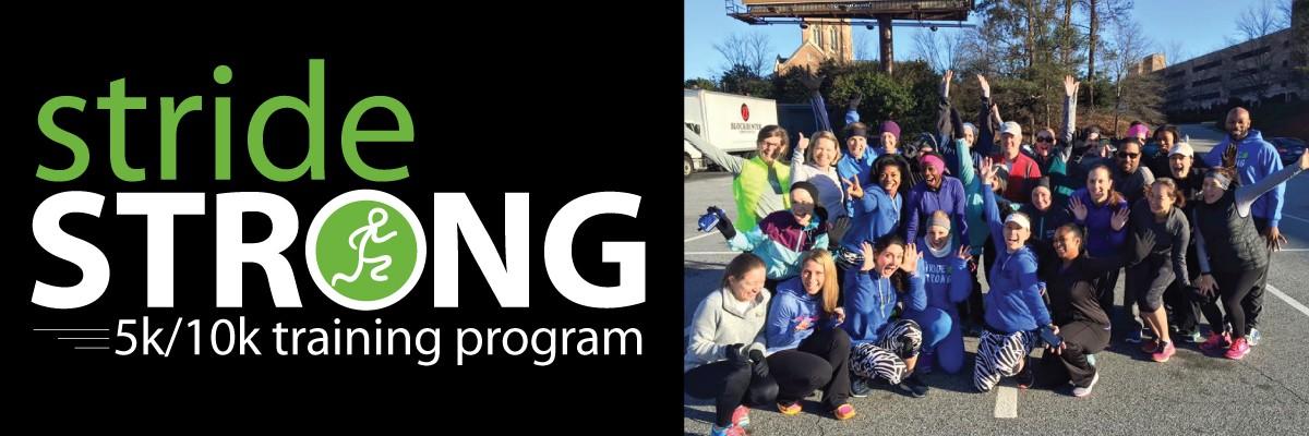 Stride Strong 5K/10K Training Program Banner Image