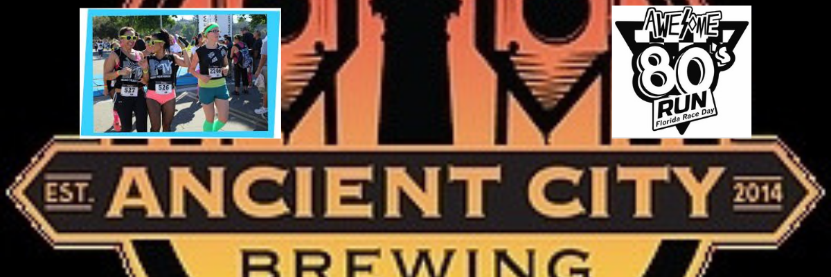 Ancient City Brewing Totally Awesome 1980s 5k and 1.5 mile fun run Banner Image