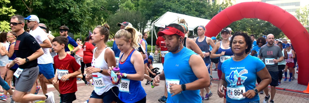 Towson 4 on 4th Four Mile Run and 1776 Family/Kid's Fun Run Banner Image