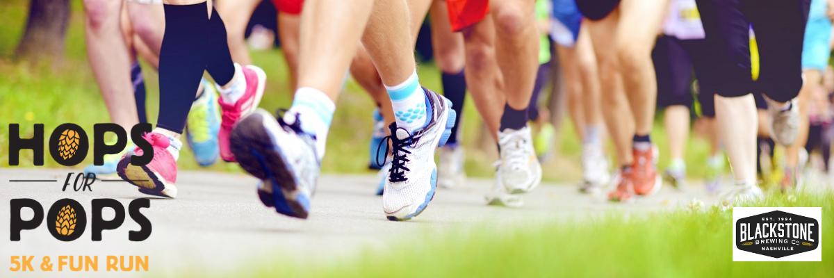 Hops For Pops 5K & 1 Mile Fun Run Banner Image