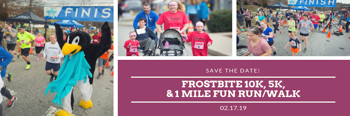 27TH ANNUAL FROSTBITE 10K & 5K RUN & 1-MILE FUN RUN/WALK Banner Image