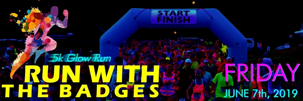 Run with the Badges 5k Banner Image