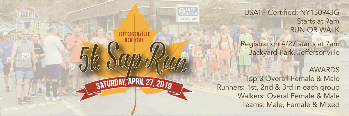 Jeffersonville's 5K Sap Run Banner Image