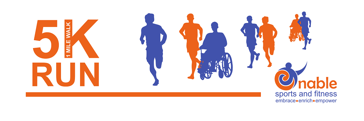 Enable Sports and Fitness 5K Run/ 1 Mile Walk Fundraiser Banner Image
